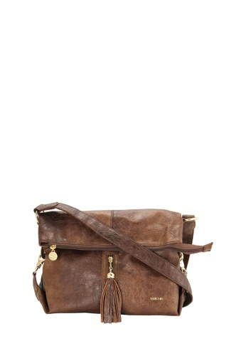 SEMBONIA brown SEMBONIA Synthetic Leather Crossbody Bah A2A22AC959607BGS_1