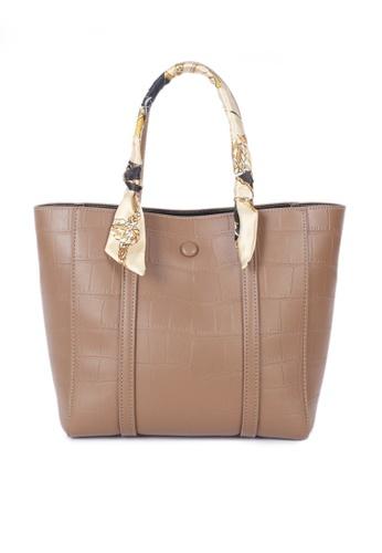Twenty Eight Shoes brown VANSA Fashion Crocodile Leather Tote Bag VBW-Tb2881 0A163AC4023D65GS_1