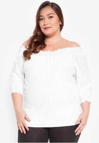 8f9b1ccc6f12d Shop Divina Plus Size Off Shoulder Blouse Online on ZALORA Philippines