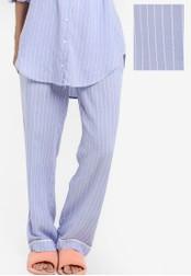 ZALORA blue Satin Pajama Pants 707C5ZZC7C6831GS_1