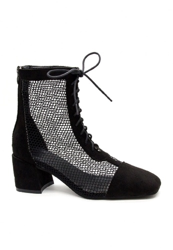 Twenty Eight Shoes black Sexy Mesh Mid Boots VB386 7484DSH446F04BGS_1
