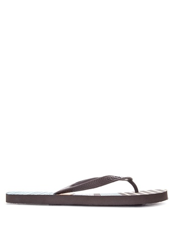 BENCH brown Printed Slippers BE550SH28LOXPH_1