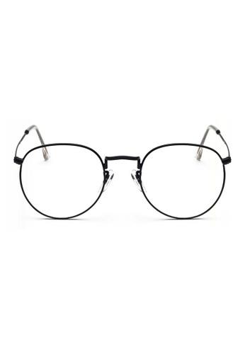 Kyfer's Eyewear & Essentials black Semi Round Metal Eyewear KY376AC48RBBSG_1