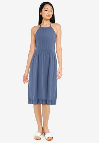 ZALORA BASICS grey Halter Neck Summer Dress AE980AA936E907GS_1
