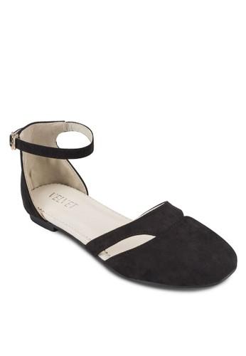 Elvesprit台灣官網ie 側空繞踝平底鞋, 女鞋, 芭蕾平底鞋