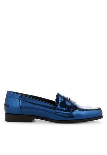 Minelli blue F61 921/MET Mirror Leather Penny Loafers - Eustasie MI352SH0FG0TSG_1