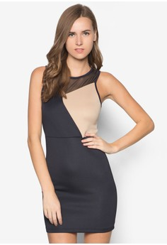 Colourblocked Bodycon Dress