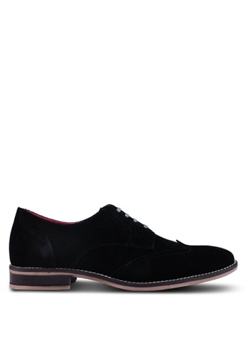 Acuto black Leather Derby Shoes 93CABSHB1DB966GS_1