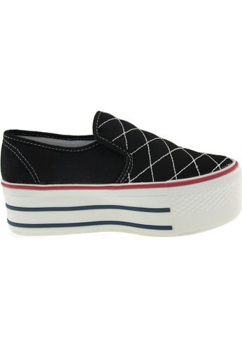 Maxstar Maxstar Women's C50 Stitched Platform Canvas Slip On Shoes US Women Size MA168SH60ZUHHK_1