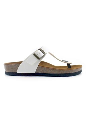 SoleSimple 白色 Rome - 白色 百搭/搭帶 軟木涼鞋 4BFD4SHF03C8D3GS_1
