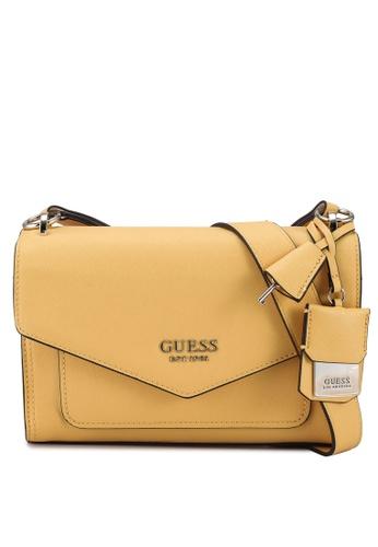 Guess yellow Georgiana Crossbody Flap Bag 7CA3DACF82F7A1GS_1
