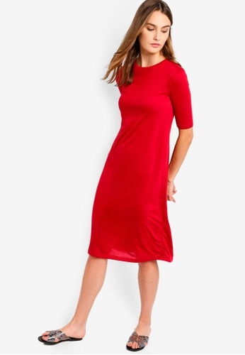 7035433a95ef Buy ZALORA BASICS Basic Short Sleeves Midi Dress Online on ZALORA ...