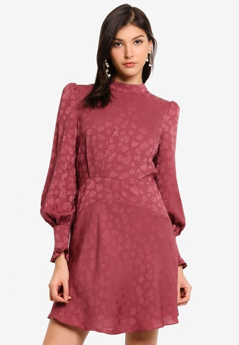 Forever New pink Esme Jacquard Mini Dress 4E332AA0E4E3F9GS_1