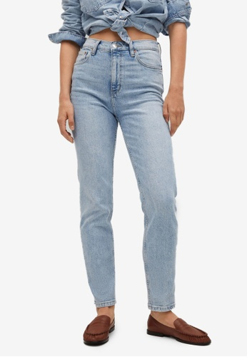 Mango blue Mom-Fit Jeans 8A9FCAAAFF8266GS_1