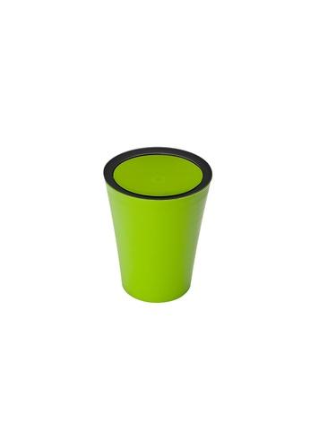 Qualy Qualy Mini Round Flip Bin (Green) EF186HL11E9061GS_1