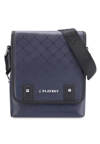 Playboy blue Playboy Sling Bag PL371AC06MSRMY_1