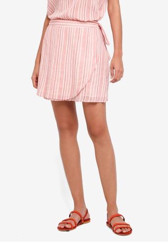 Vero Moda pink Summer Wrap Short Skirt 56C22AAF58F278GS_1