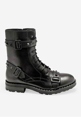 ASH black Witch - Black Rivets embroidery Biker Boots 1A214SHDE82C75GS_1
