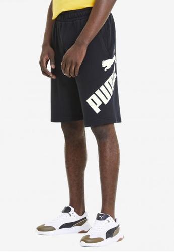 Puma black Big Logo Men's Shorts 19D8EAAE56940EGS_1