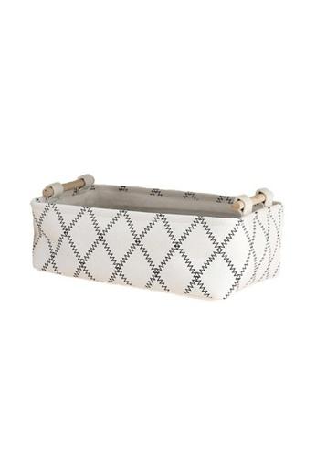 DILAS HOME Stylish White Rectangle Storage Box - Small 52B68HL8DA74EBGS_1