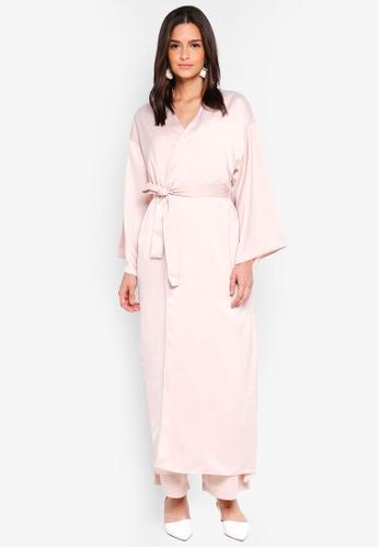 Zalia beige Kimono Cardigan 59420AAAF0B7E0GS_1