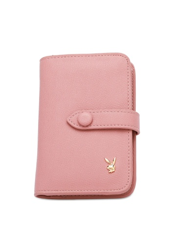 PLAYBOY BUNNY pink Women's Bi Fold Purse / Bi Fold Wallet FA4B7ACA602570GS_1
