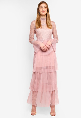 True Decadence pink Lace Maxi Dress 9F3A2AA4D60AE6GS_1