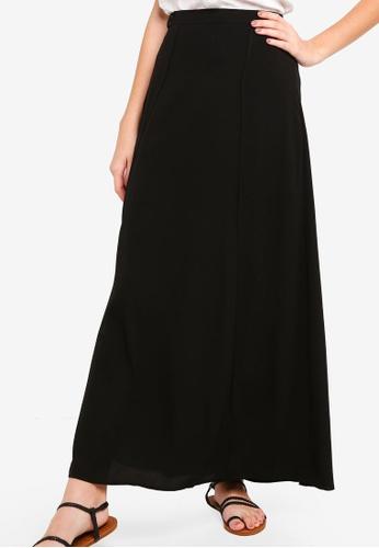 Something Borrowed black High Slit Self Tie Maxi Skirt 252F8AACB261DCGS_1