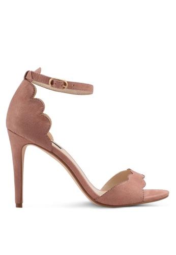 ZALORA brown Scallop Detailed High Heels EDD0FSH2C58BD6GS_1