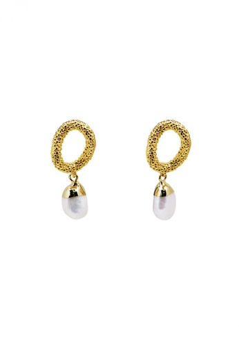 SKEDA gold Sabrina Pearl Drop Earrings 888CEAC60E47F5GS_1