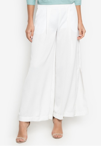 81adc15049e Shop MEMO Wide-legged trousers with side slits Online on ZALORA Philippines