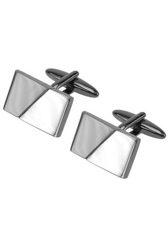 CUFF IT silver Black Gunmetal and Silver Two Tone Cufflinks CU047AC68WYTHK_1