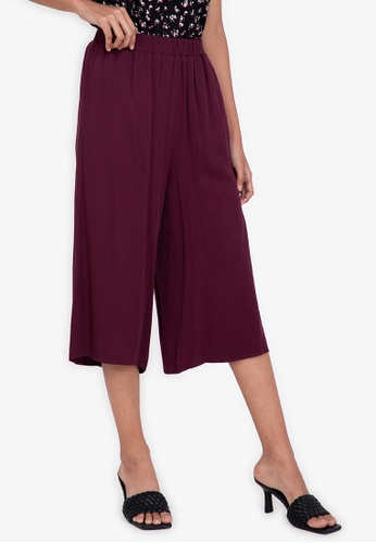 ZALORA BASICS red Relaxed Culottes BE026AAD86B942GS_1