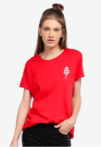Cotton On red Tbar Fox Graphic Top DB924AA5DE9CFDGS_1
