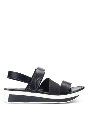 Nose black Casual Strappy Wedge Sandals NO327SH53IJIMY_1