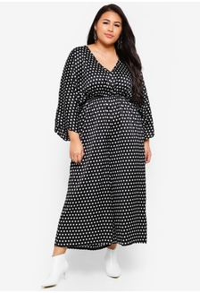c0e5b14183f Plus Size Kimono Polka Dot Jumpsuit 45661AA2ABC2B1GS 1 MISSGUIDED ...