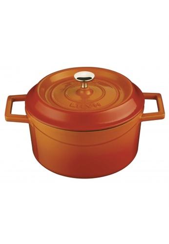 Lava orange Lava Cast Iron Casserole - 28 cm C8186HL03A8570GS_1