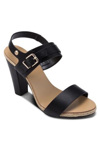 Cathlyn 寬帶繞踝木製粗跟鞋, 女zalora 內衣鞋, 高跟