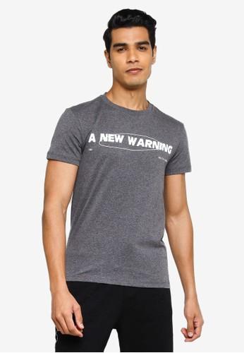 KOTON grey New Warning T-Shirt AD8FAAA62E4B35GS_1