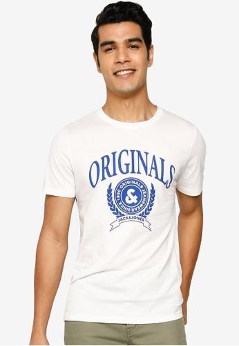 Jack & Jones white Crest Short Sleeve T-Shirt 5B28CAAE94B720GS_1