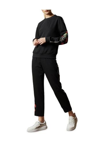 TED BAKER black Ted Baker KRINA Highland embroidered sweatshirt 5F84CAAE53594BGS_1