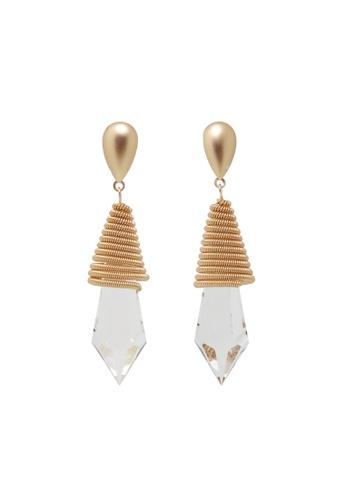 Jaysa Collection gold Matt Gold Acrylic Crystal Shards Earrings JA875AC0GQ47SG_1
