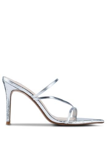 9f4a69ec9b6 Buy Mango Leather Straps Heeled Sandals