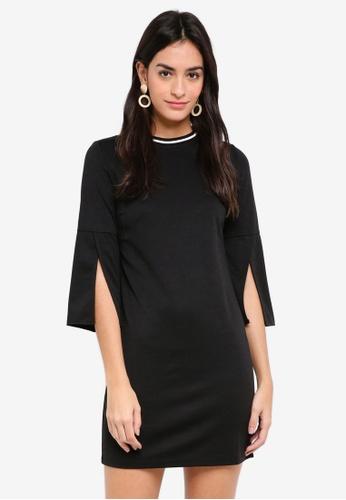 ZALORA black and white Open Sleeves Bodycon Dress FCC50AA2C95B28GS_1