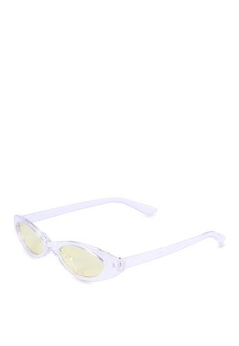 Milliot & Co. Uriela Oval Sunglasses E635FGLDEAB1CCGS_1
