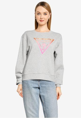 GUESS grey Karida Fleece Sweatshirt 79EDBAAB3B2048GS_1