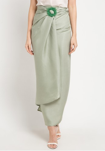 LUIRE by Raden Sirait green and multi Dc-Skirt 8276EAAA659660GS_1