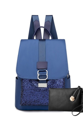 TCWK blue TCWK Korea Style Women Fashion Backpack - Blue 71F1BAC0CAEFFBGS_1