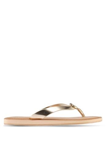 ALDO gold Prelinna Flat Sandals 502AASH24F57F4GS_1