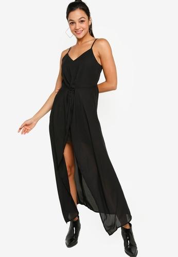 Something Borrowed black Evening Twist Front High Low Maxi Dress ABBADAAFAF541DGS_1